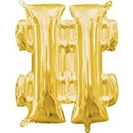 "16"" Symbol Number Sign Gold"