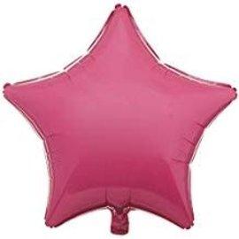 """Bubblegum Pink Star Balloon, 19"""""""