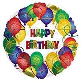 """Balloons Happy Birthday Balloon, 18"""""""