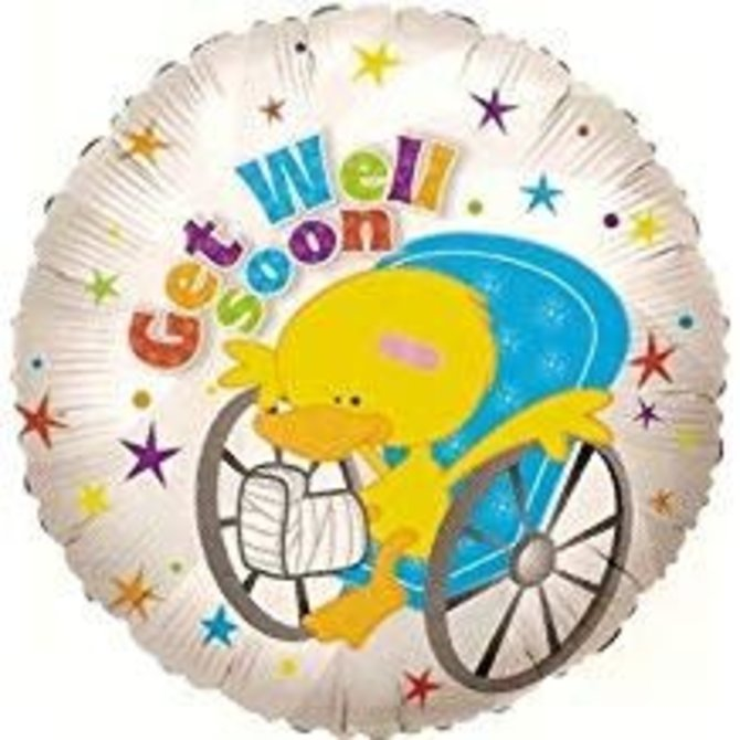 "Get Well Duckie Balloon, 18"""