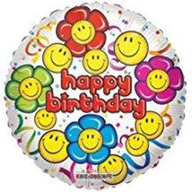 """Smile Happy Birthday Foil Balloon, 18"""""""
