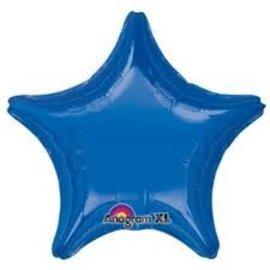 Dark Blue Star Balloon, 19""