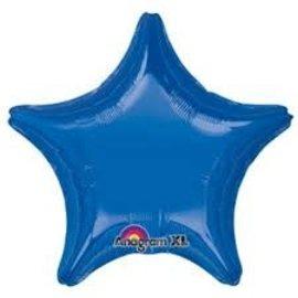 """Dark Blue Star Balloon, 19"""""""
