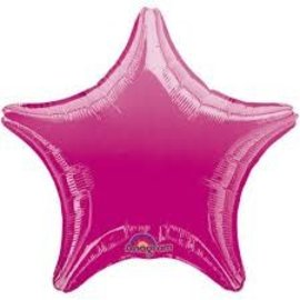 """Fuchsia Star Balloon, 19"""""""