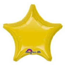 Light Metallic Gold Star Balloon, 19""