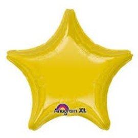 """Light Metallic Gold Star Balloon, 19"""""""