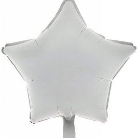"""Metallic White Star Balloon, 19"""""""