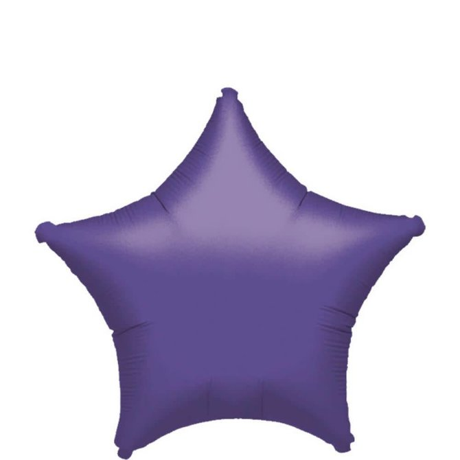Purple Star Balloon, 19""