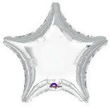 Silver Star Balloon, 19""