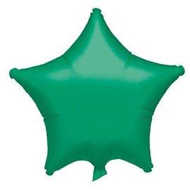 """Green Star Balloon, 19"""""""
