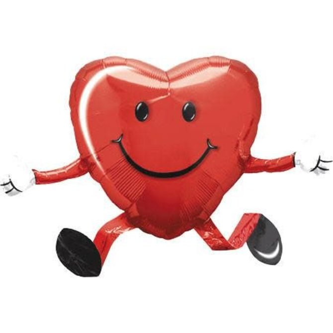"Happy Hugs Red Airwalker Balloon, 26"""