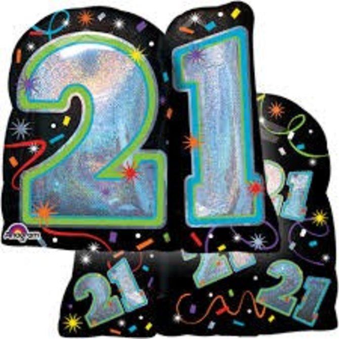 "27"" BRILLIANT BIRTHDAY 21 SHP"