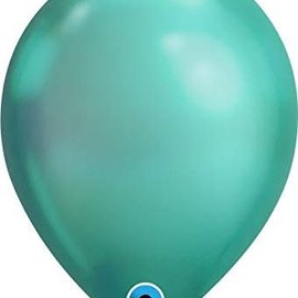 Chrome Green - single latex helium filled Pickup or Local delivery only includes Hi-float