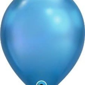 Chrome Blue- single latex helium filled Pickup or Local Delivery only includes Hi-Float