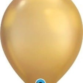 Chrome Gold- single latex helium filled Pickup or Local delivery only includes Hi- Float