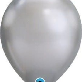 Chrome Silver- single latex helium filled Pickup or Local delivery only includes Hi-Float
