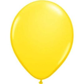 Qualatex Yellow - single latex helium filled Pickup or Local delivery only includes Hi-float