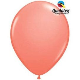 Qualatex Coral - single latex helium filled Pickup or Local delivery only includes Hi-float