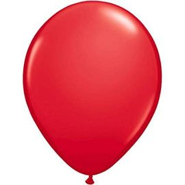 Qualatex Red - single latex helium filled Pickup or Local delivery only includes Hi-float