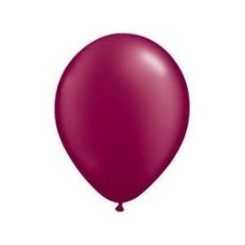 Qualatex Maroon  - single latex helium filled Pickup or Local delivery only includes Hi-float