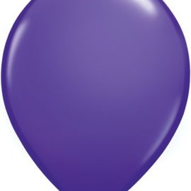 Qualatex Violet  - single latex helium filled Pickup or Local delivery only includes Hi-float
