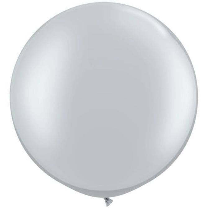 2FT Round Silver  Latex