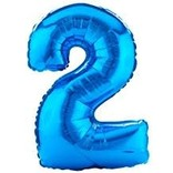 34'' 2 Blue Number Shape Balloon