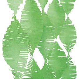 Lime Green Tissue Fringe Garland, 9 ft