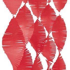 Red Tissue Fringe Garland, 9 ft