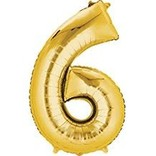 34'' 6 Gold Number Shape Balloon
