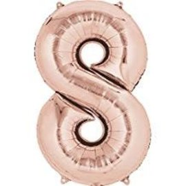 """34"""" 8 Rose Gold Number Shape Balloon"""
