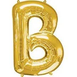 "34"" Letter B Gold Balloon"