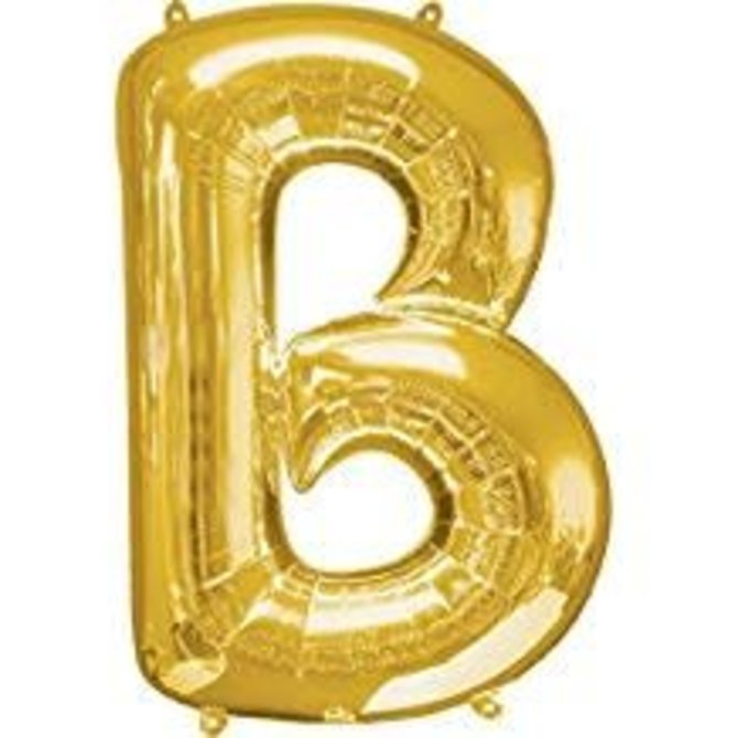 "34"" Letter B Gold Balloon"