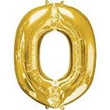 """34"""" Letter O Shape Foil Balloon- Gold"""