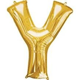 "34"" Letter Y Gold Balloon"