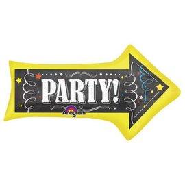 """Chalkboard Party Arrow Balloon, 36"""" (#38)"""