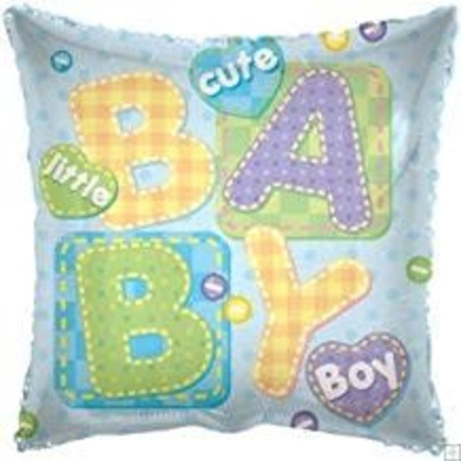 Baby Boy Square Balloon, 18""