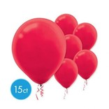 Apple Red Solid Color Latex Balloons - Packaged, 15ct