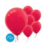 Apple Red Solid Color Latex Balloons - Packaged, 72ct