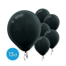 Black Solid Color Latex Balloons - Packaged, 15ct