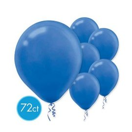 Bright Royal Blue Solid Color Latex Balloons - Packaged, 72ct