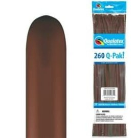 BROWN 260 Q-PAK BALLOON- Packaged, 50ct