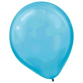 Caribbean Blue Pearl Latex Balloons - Packaged, 15ct