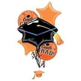 Orange Graduation Bouquet Package