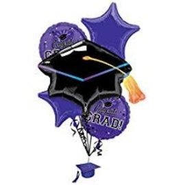 Purple Graduation Bouquet Package