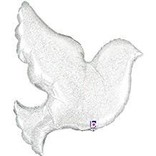 Pearl White Dove Shape Balloon, 34""