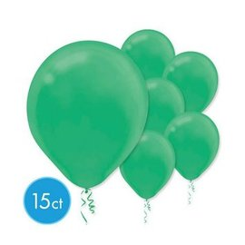 Festive Green Solid Color Latex Balloons - Packaged, 15ct