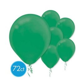 Festive Green Solid Color Latex Balloons - Packaged, 72ct