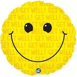 """Get Well Smiley Balloon, 18"""""""