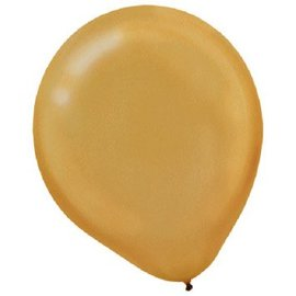 Gold Pearl Latex Balloons - Packaged, 15 ct.